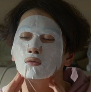 In the series My Horrible Boss this fellow uses a face mask because he's an actor... and he gets the parts